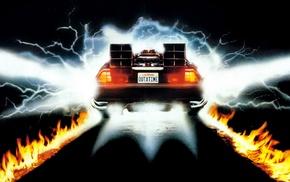movies, DMC, Back to the Future, DeLorean, digital art, car