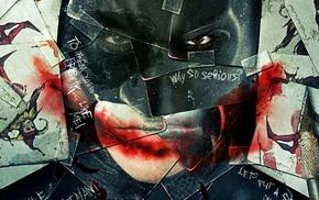 The Dark Knight, cards, mosaic, Batman, movies