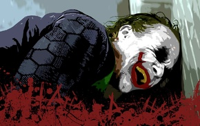 MessenjahMatt, Batman, movies, The Dark Knight, Joker, paint splatter