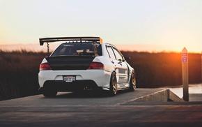 Mitsubishi, rally cars, Mitsubishi Lancer EVO, car