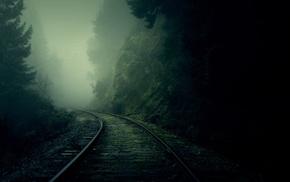 dark, mist
