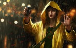 rain, people, sad, grenades