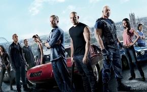 Dwayne Johnson, Fast and Furious, movies, Jordana Brewster, Vin Diesel, Paul Walker