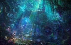 concept art, jungles, exotic, artwork, fantasy art