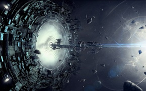 stars, spaceship, space, artwork, fantasy art, concept art