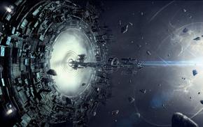 звезды, космический корабль, космос, произведение искусства, фантастическое исскуство
