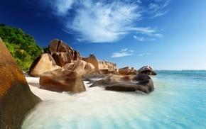 nature, ocean, landscape, stones