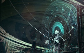 fantasy art, artwork, robot, knowledge, Kuldar Leement, concept art