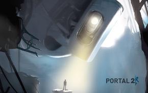 artwork, video games, Portal 2, GLaDOS, Aperture Laboratories, Valve Corporation