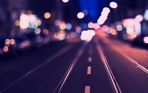 road, bokeh