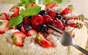 cutlery, desserts, food, cakes