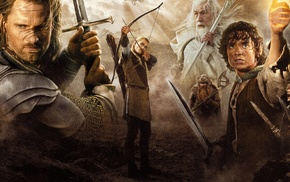 Orlando Bloom, Gandalf, Frodo Baggins, The Lord of the Rings, Viggo Mortensen, The Lord of the Rings The Return of the K