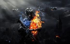 aircraft, suppressors, army, airplane, smoke, fire