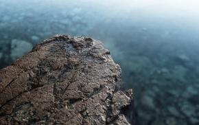 скала, глубина резкости, вода