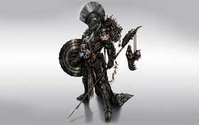 warrior, fantasy art, concept art, artwork, death, hunter