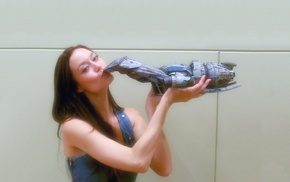 Summer Glau, brunette, actress, kissing, girl, Serenity