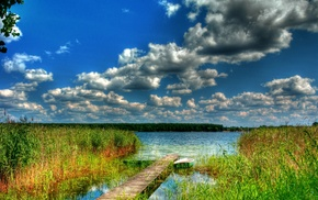 lake, HDR, nature