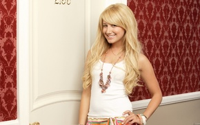 blonde, smiling, Ashley Tisdale