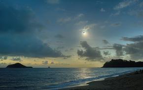 Sun, nature, moon, Australia