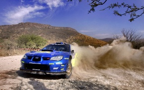 drift, blue cars, Subaru Impreza, rally cars