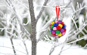 toy, tree, twigs, decoration, winter