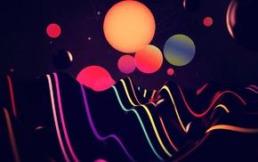 сфера, абстрактные, красочно, линии