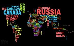 world, map, word clouds, black, countries
