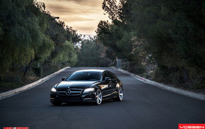 benz, tuning, cls, 63, vossen, black