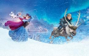 Frozen movie, Sven Frozen, Princess Anna, Kristoff Frozen, Olaf, movies