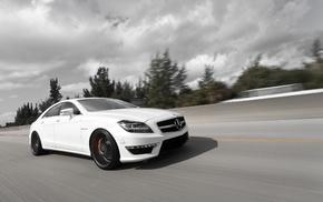 автомобили, cls 63, белый, cls-klasse, Mercedes-benz, amg
