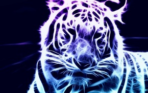 abstraction, 3D, tiger