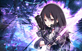 gun, sword, Sword Art Online, laser swords, Phantom Bullet, anime