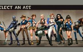 Team Fortress 2, genderswap, anime girls