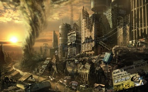 building, apocalyptic, ruin, city, Fallout, nuclear