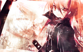 anime girls, redhead, Shakugan no Shana, Shana