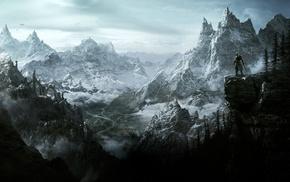 Dovakhiin, mountain, video games, Tamriel, The Elder Scrolls V Skyrim