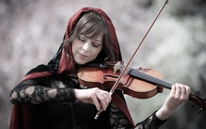 brunette, violin, Lindsey Stirling, cloaks, girl