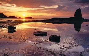 небо, природа, закат, вода, пейзаж