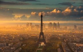 природа, Эйфелева башня, солнечный свет, произведение искусства, Париж