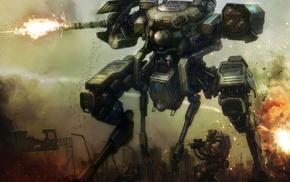 soldier, war, fantasy art, concept art, mech, robot