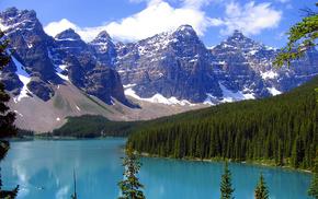 nature, river, mountain