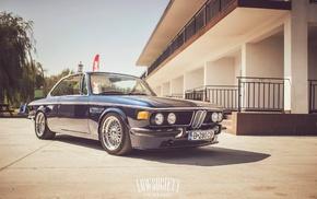 blue, BMW, vehicle