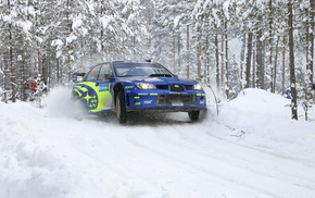 headlights, white, snow, cars, winter