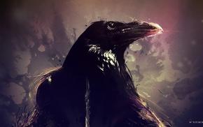животные, произведение искусства, птицы