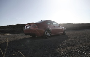 red, wheels, shadow, m3, rear view
