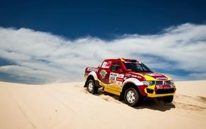 Mitsubishi, sand, cars