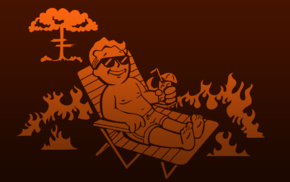 video games, Fallout, deck chairs, Vault Boy