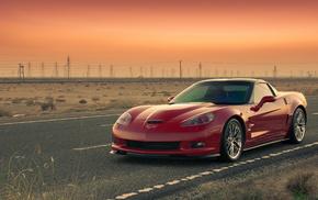 автомобили, дорога, zr1, Chevrolet, corvette, шевролет