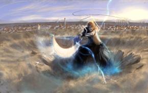 lightning, sand, Bleach, Kurosaki Ichigo, anime, sword