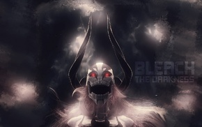 Bleach, anime, glowing eyes, Vasto Lorde, Hollow, horns